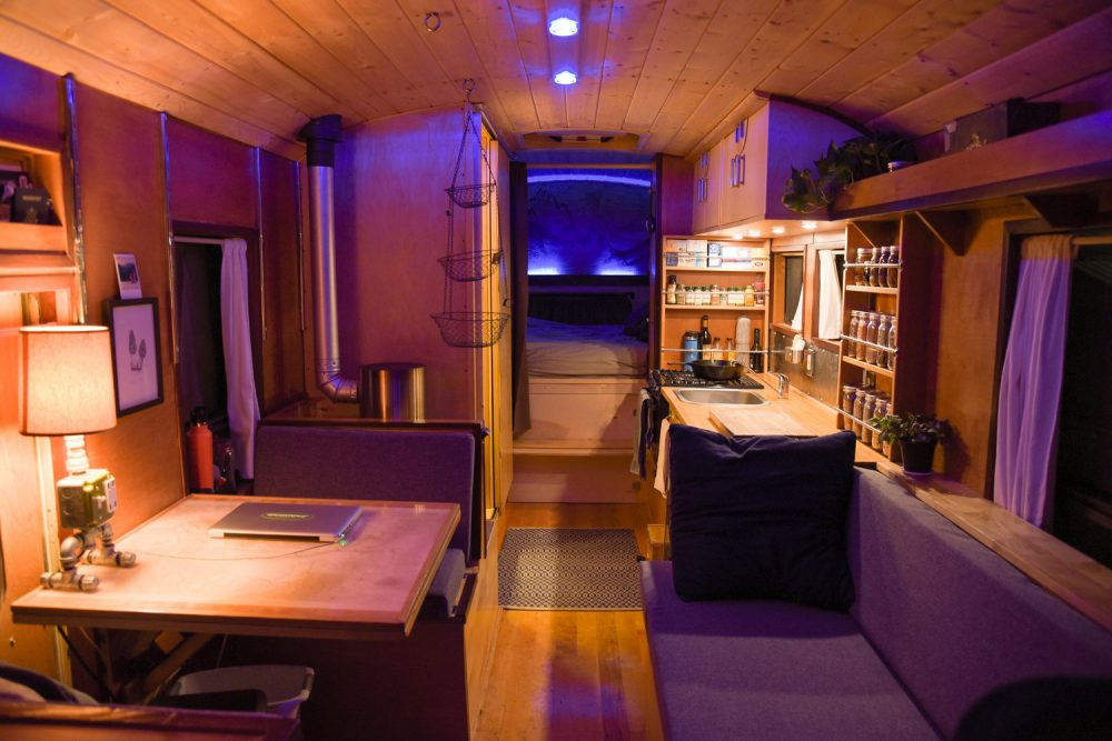 Peek Inside This Uniquely Converted School Bus Blue Skys RV Park